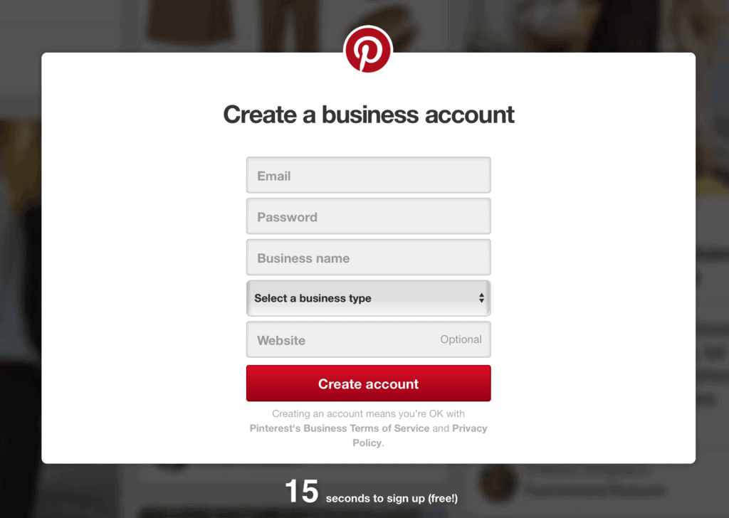 create business acount