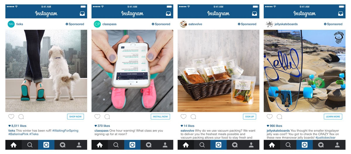 small ads on your website of Instagram