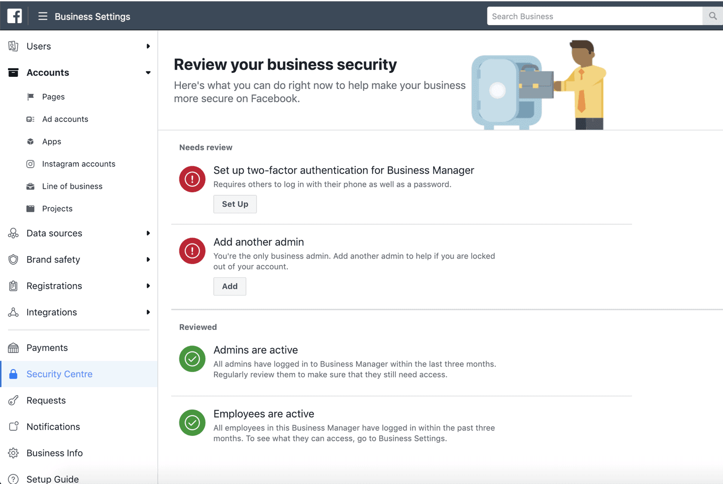 Facebook Business Manager security