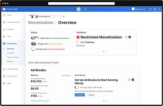Review your Facebook Ad breaks Revenue