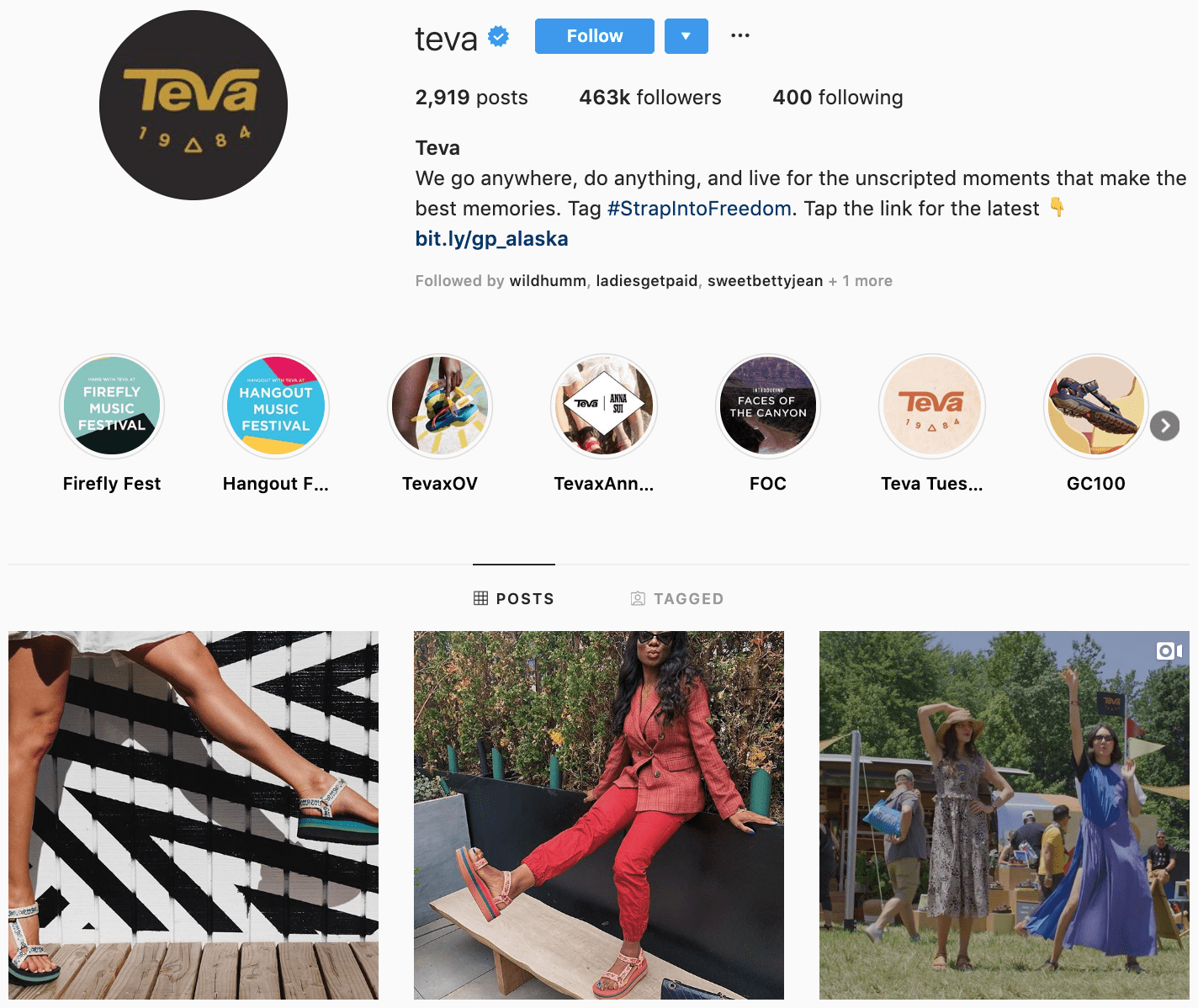 Brands Targeting Instagram Account