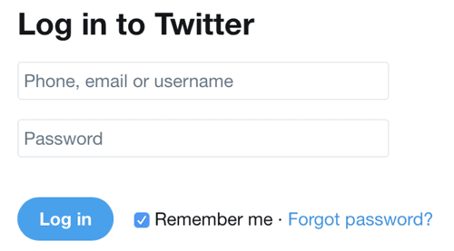 Sign in Through Twitter