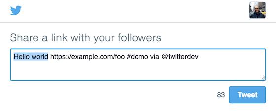 Web Links in your Tweets