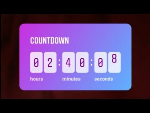 Countdown sticker