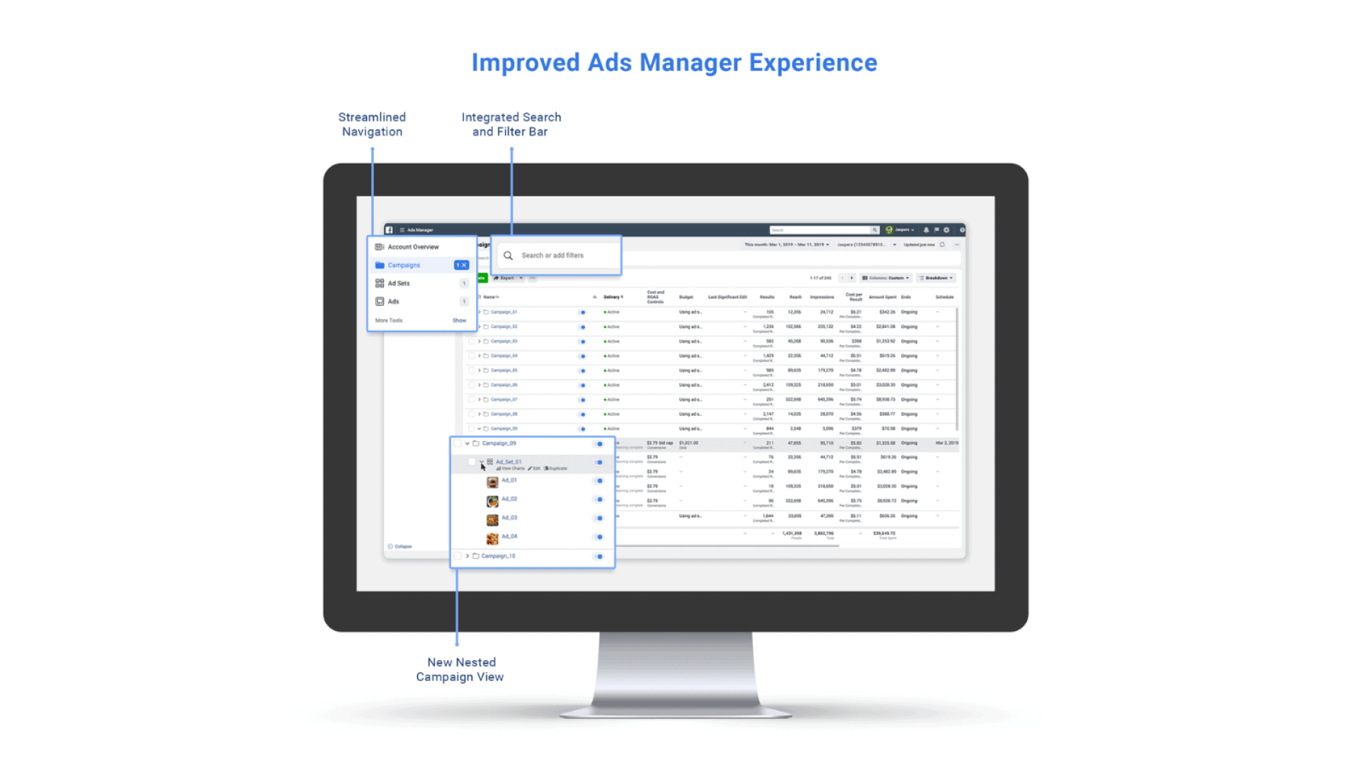 UI of the Business Manager