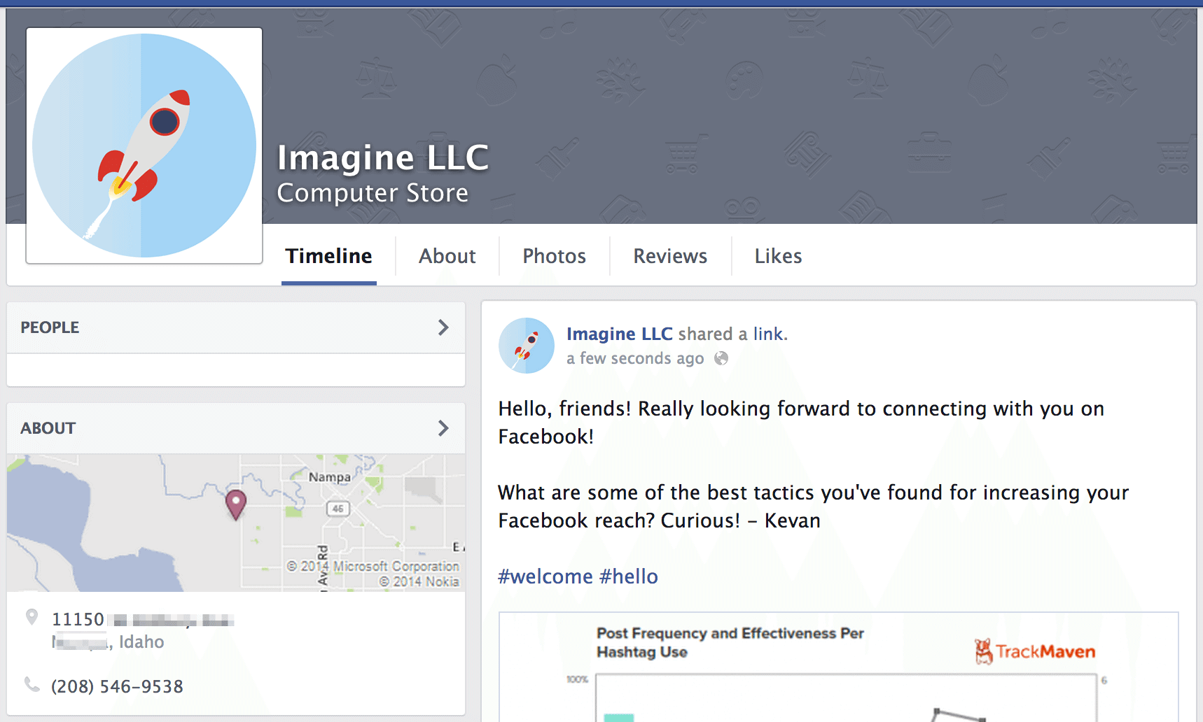 Business profile on Facebook pages