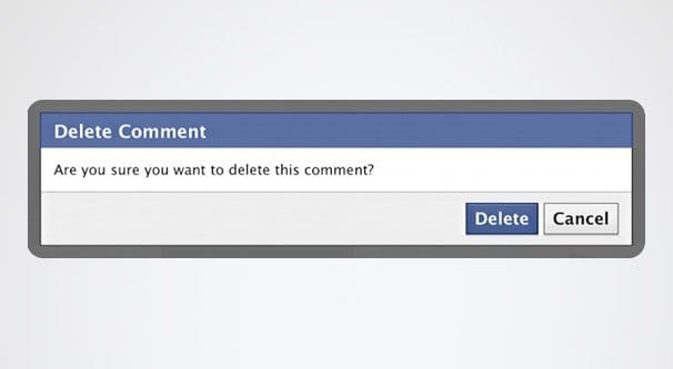 delete facebook comments