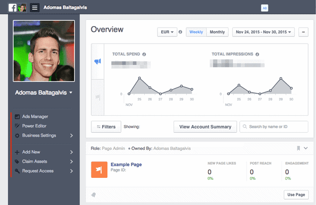 remove page facebook business manager