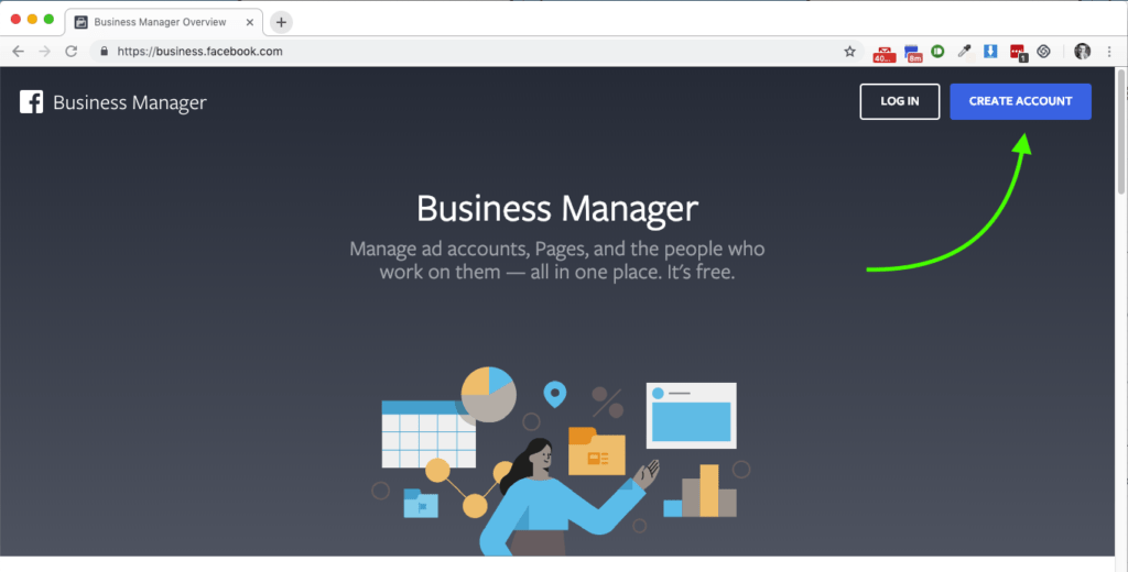 opening up the Facebook Business Manager