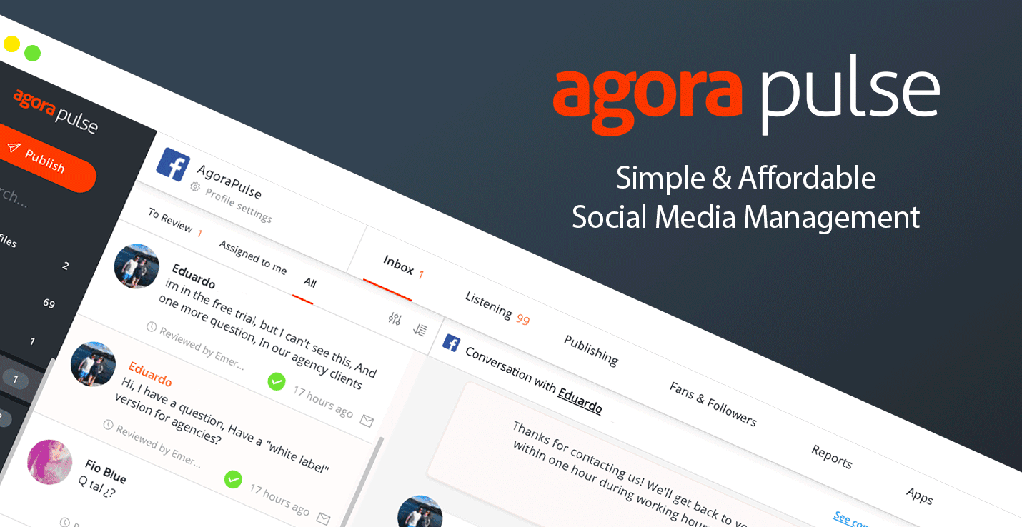 Agorapulse : Best Hootsuite Alternative