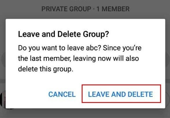 Deleting a Facebook Group