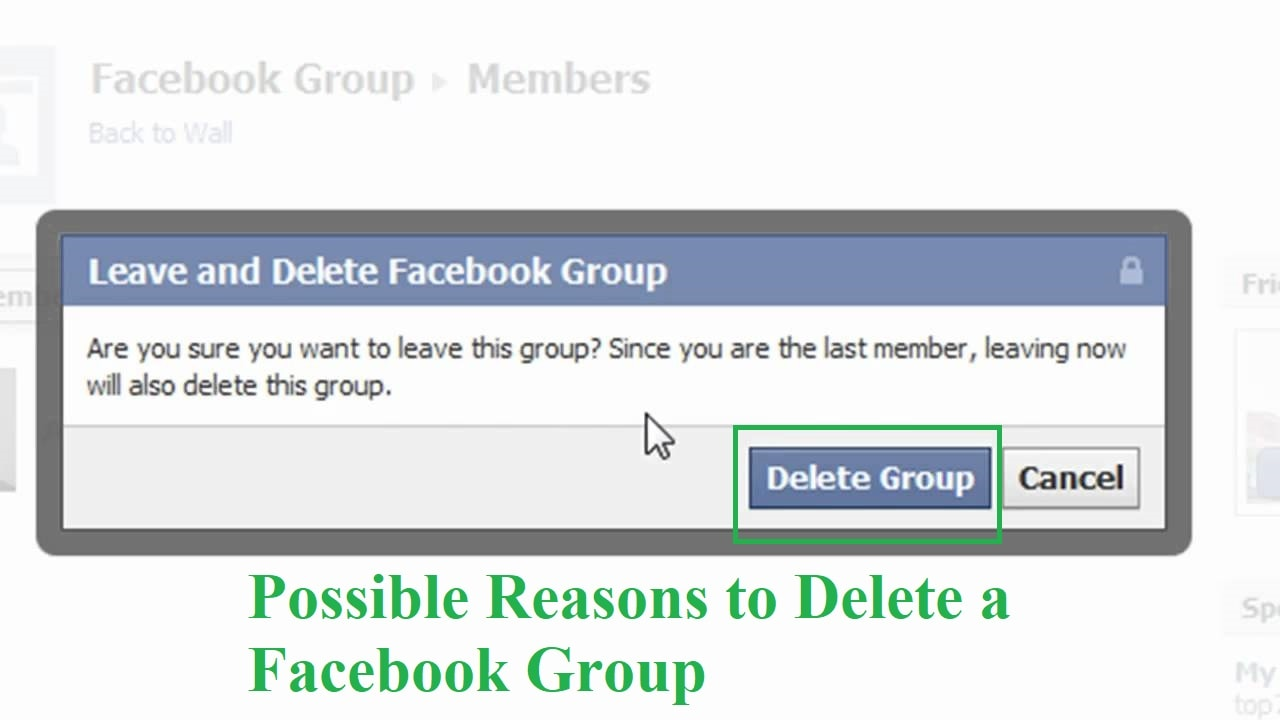 Possible Reasons to Delete a Facebook Group