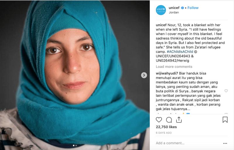 Unicef's post