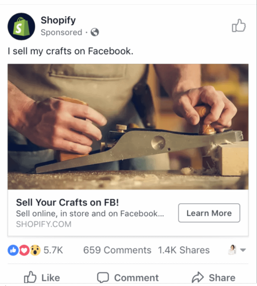 compelling CTAs on facebook