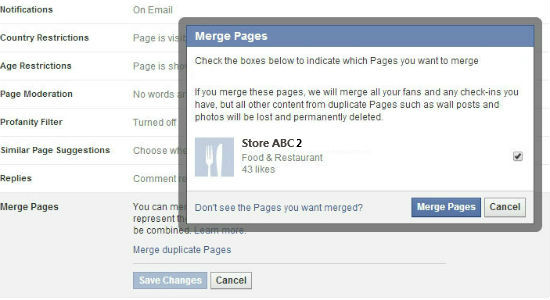merge pages