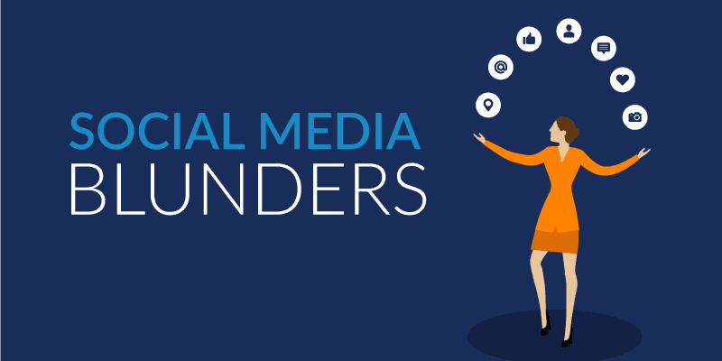 social media blunders
