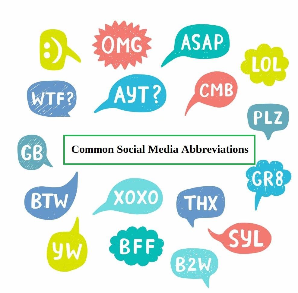 Common Social Media Abbreviations