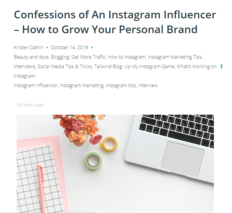 personal interviews of Influencers