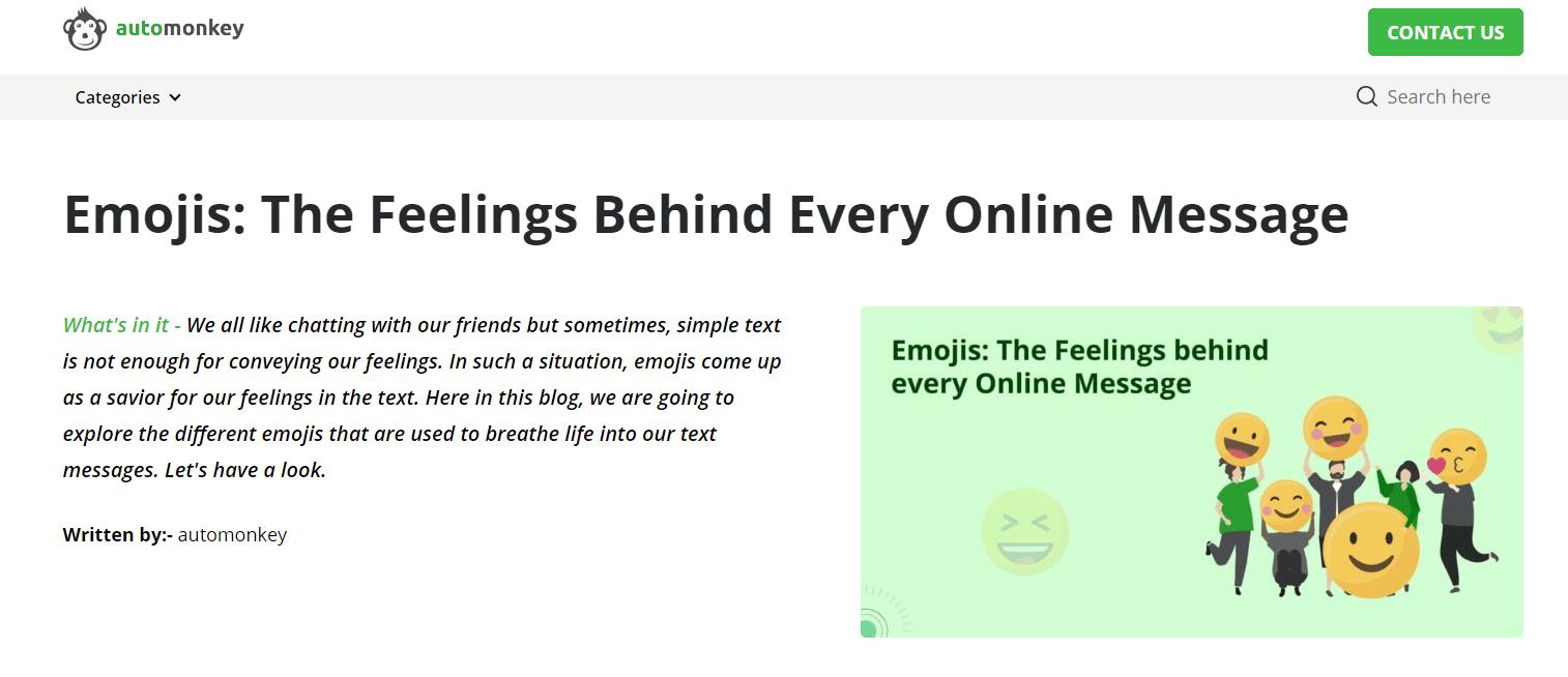 Emojis: The Feelings Behind Every Online Message
