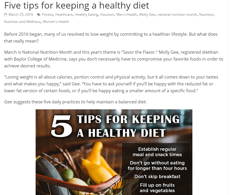 Tips to Eat Healthily