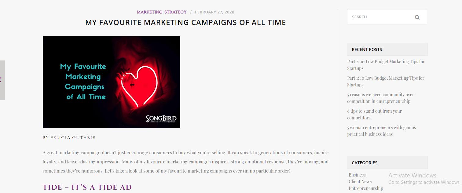 Favourite Marketing Campaigns