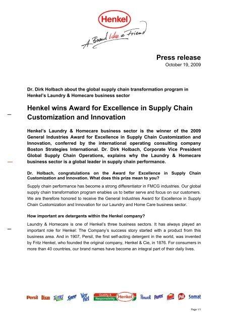 Award Announcement Press Release