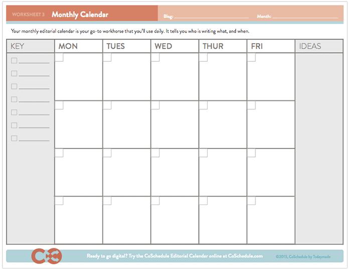 CoSchedule content calendar