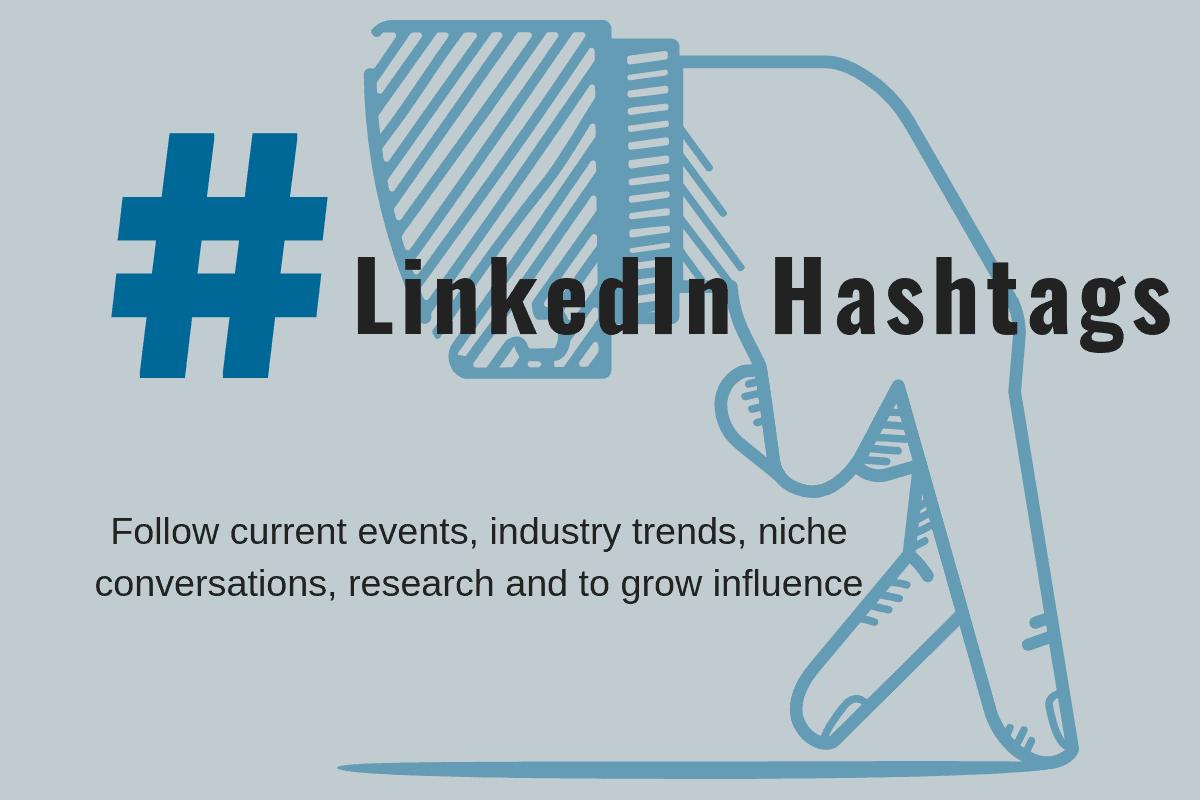 How do hashtags work on Linkedin?