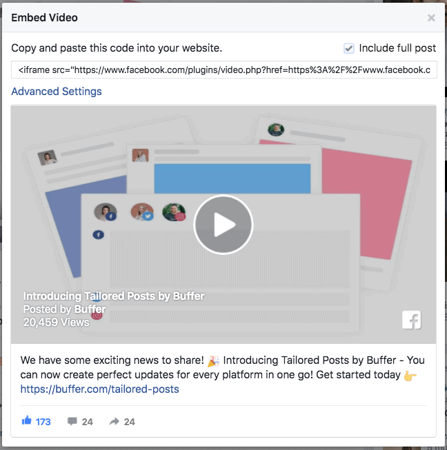facebook videos gives more attention