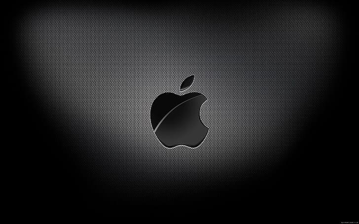 half-eaten apple logo on a laptop