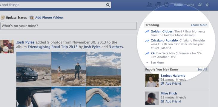 trending topics on facebook