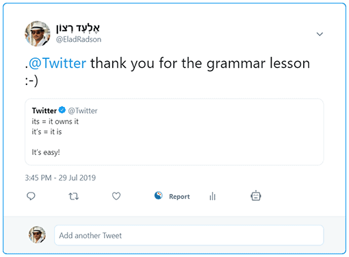 how to reply on comments on Twitter