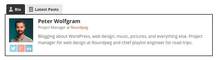 Add Blog URL to Author Bio