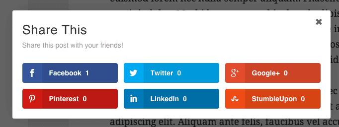 Add Share Buttons