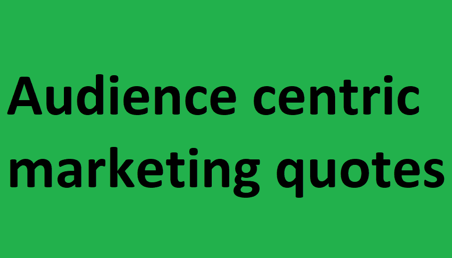 Audience centric marketing quotes