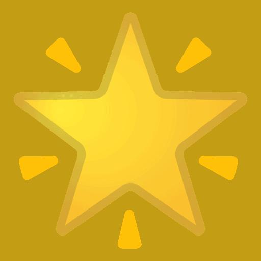 Gold Star Emoji