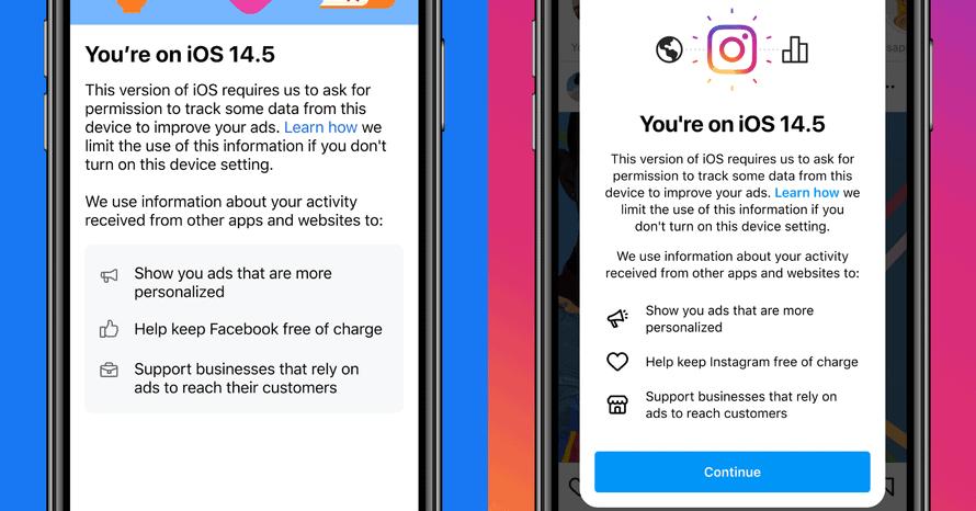 Instagram and Facebook's notification