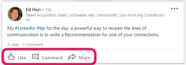how to reply on comments on LinkedIn
