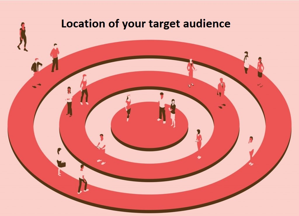 Location of your target audience