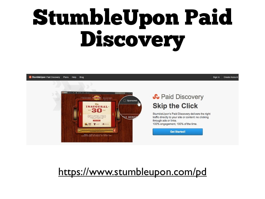 Paid Discovery Feature of Stumbleupon
