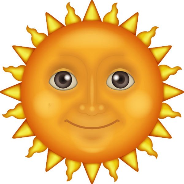 Smiling Sun Emoji