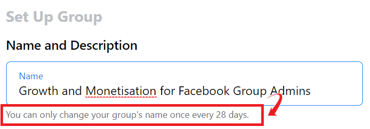 Choose the group name wisely