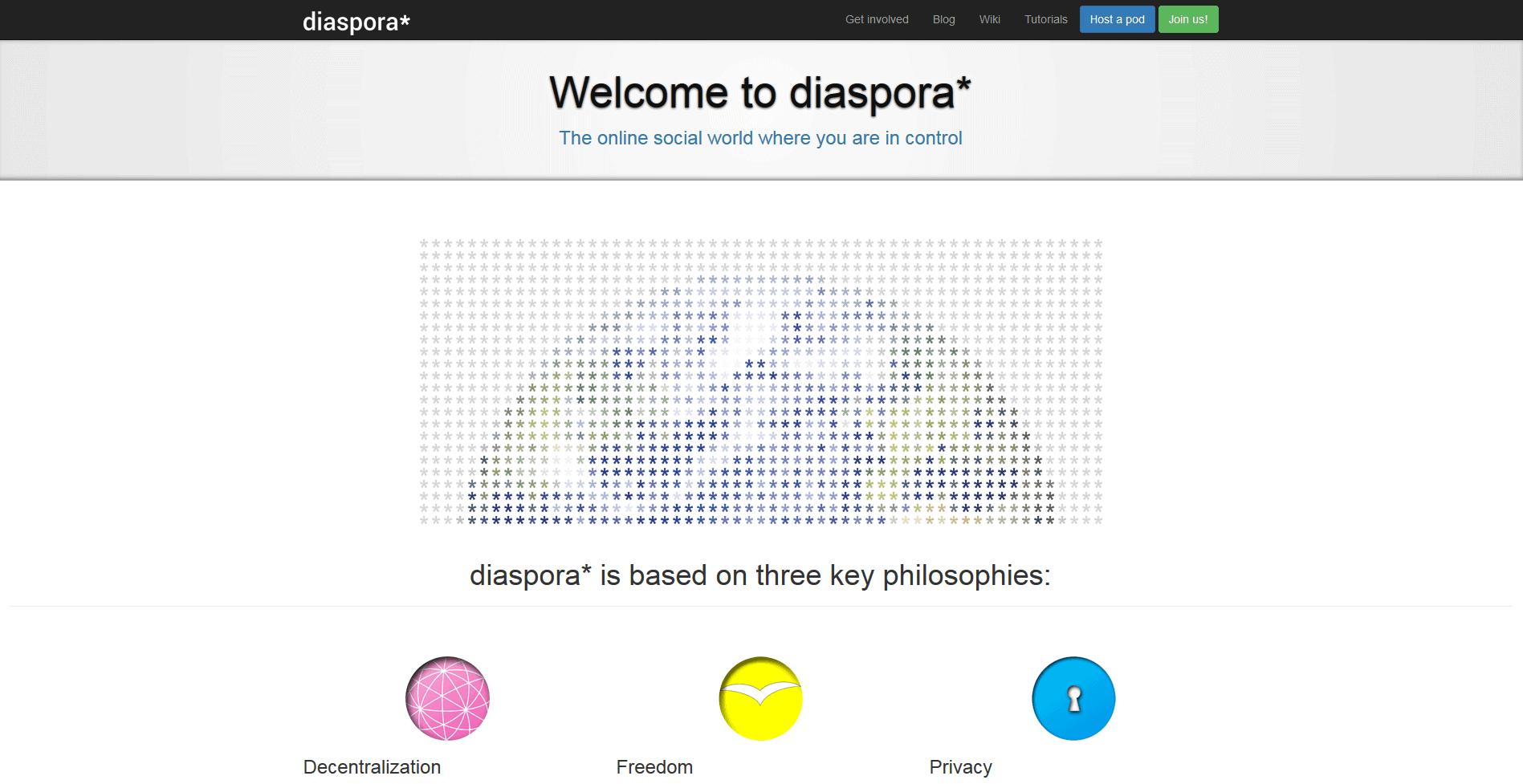 Diaspora: Facebook Alternatives