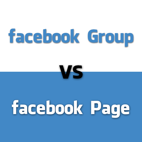 Facebook Group Different from Facebook Page