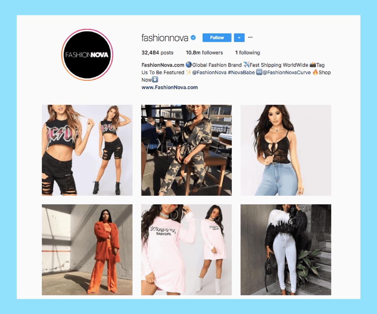 Fashion Nova posts