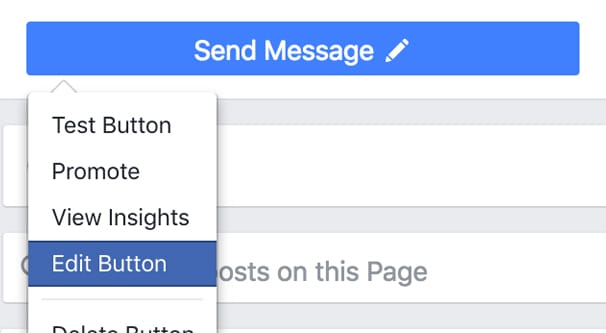 Message button to your Facebook page