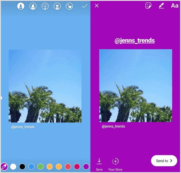 customized stories on instagram
