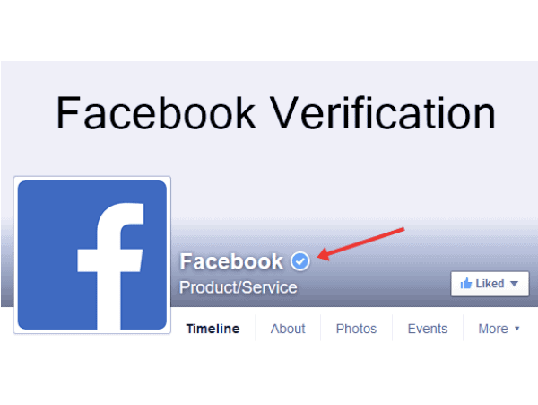 get verified on facebook business page