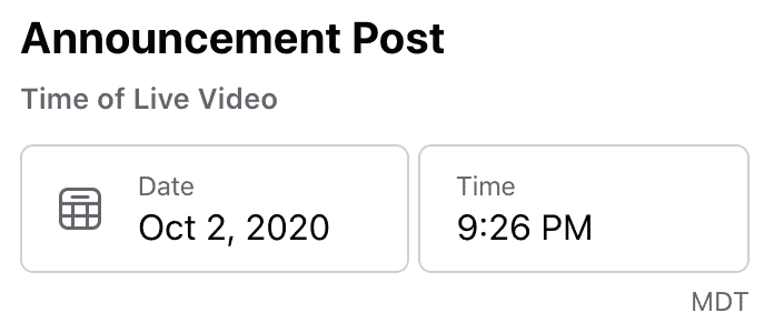 set the time and date to stream