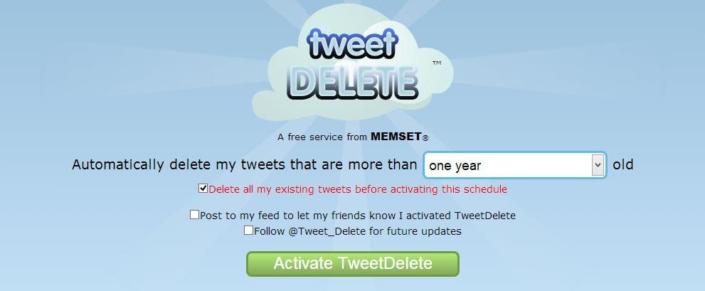 Tweet Delete